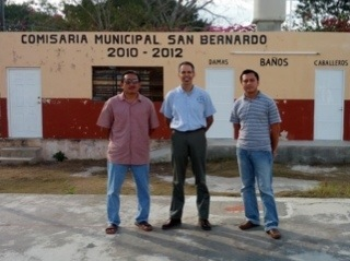 Student Sergio Ek and Pastor Rudy Cano together with Dave in San Bernardo