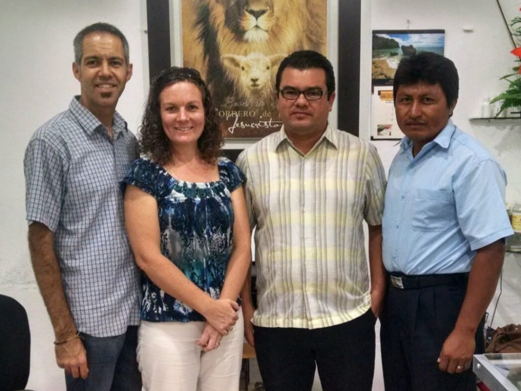 Standing with our partners (from right to left) Leo May and Felipe Sabido.